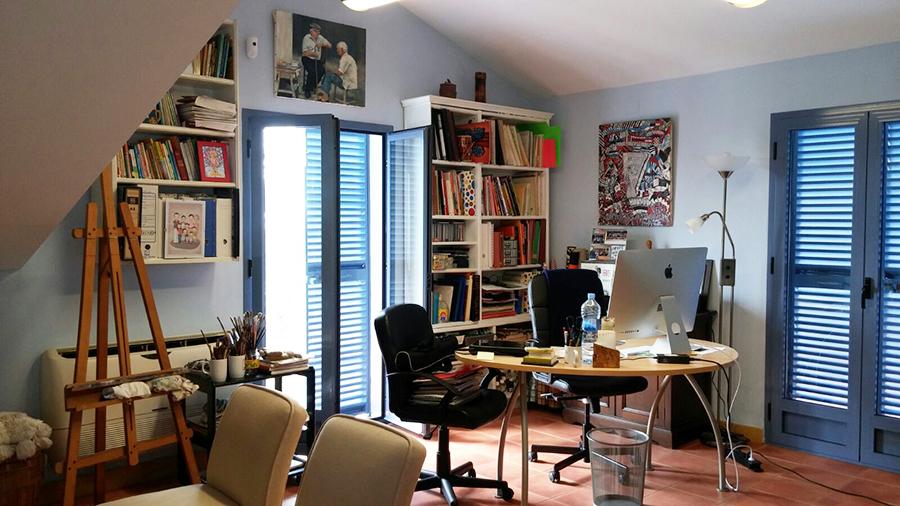 Casa de campo con estudio de pintura