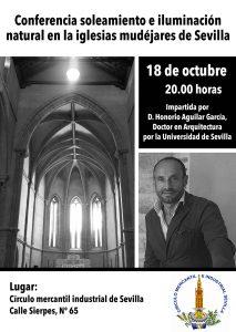 El arquitecto sevillano Honorio Aguilar ofrece el martes la conferencia «La iluminación natural en los templos mudéjares»