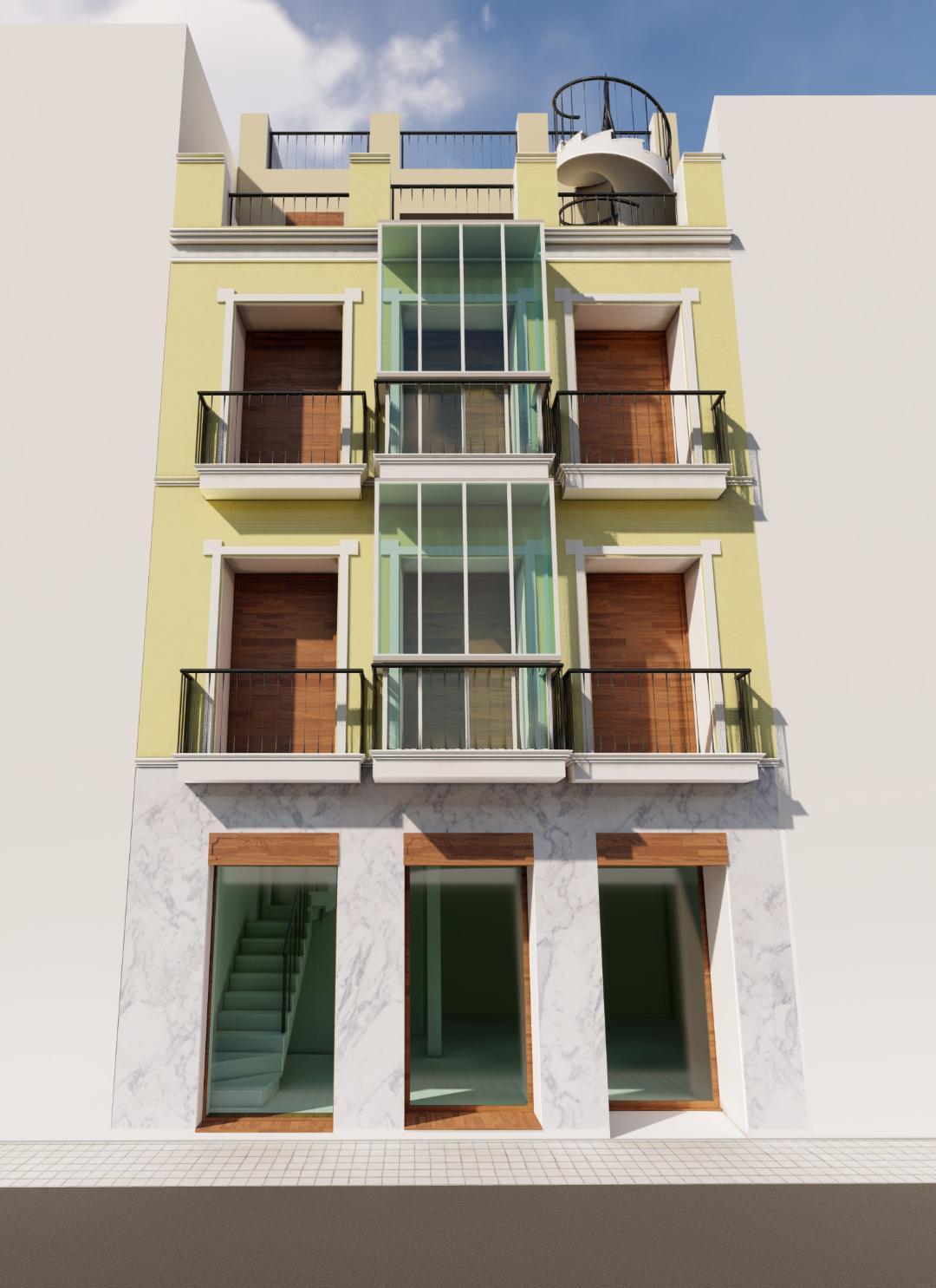 CGI Proyecto calle Hernando Colón de Sevilla