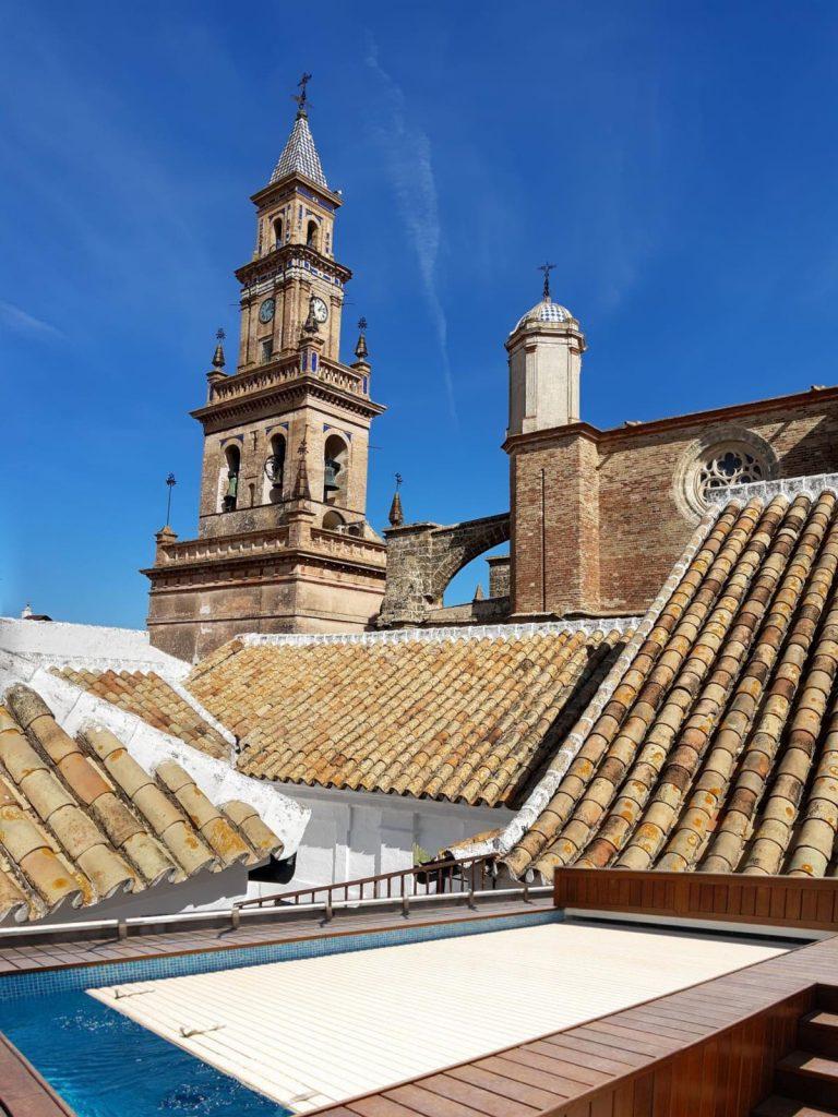 Ejemplos simulados piscinas en azoteas de Sevilla